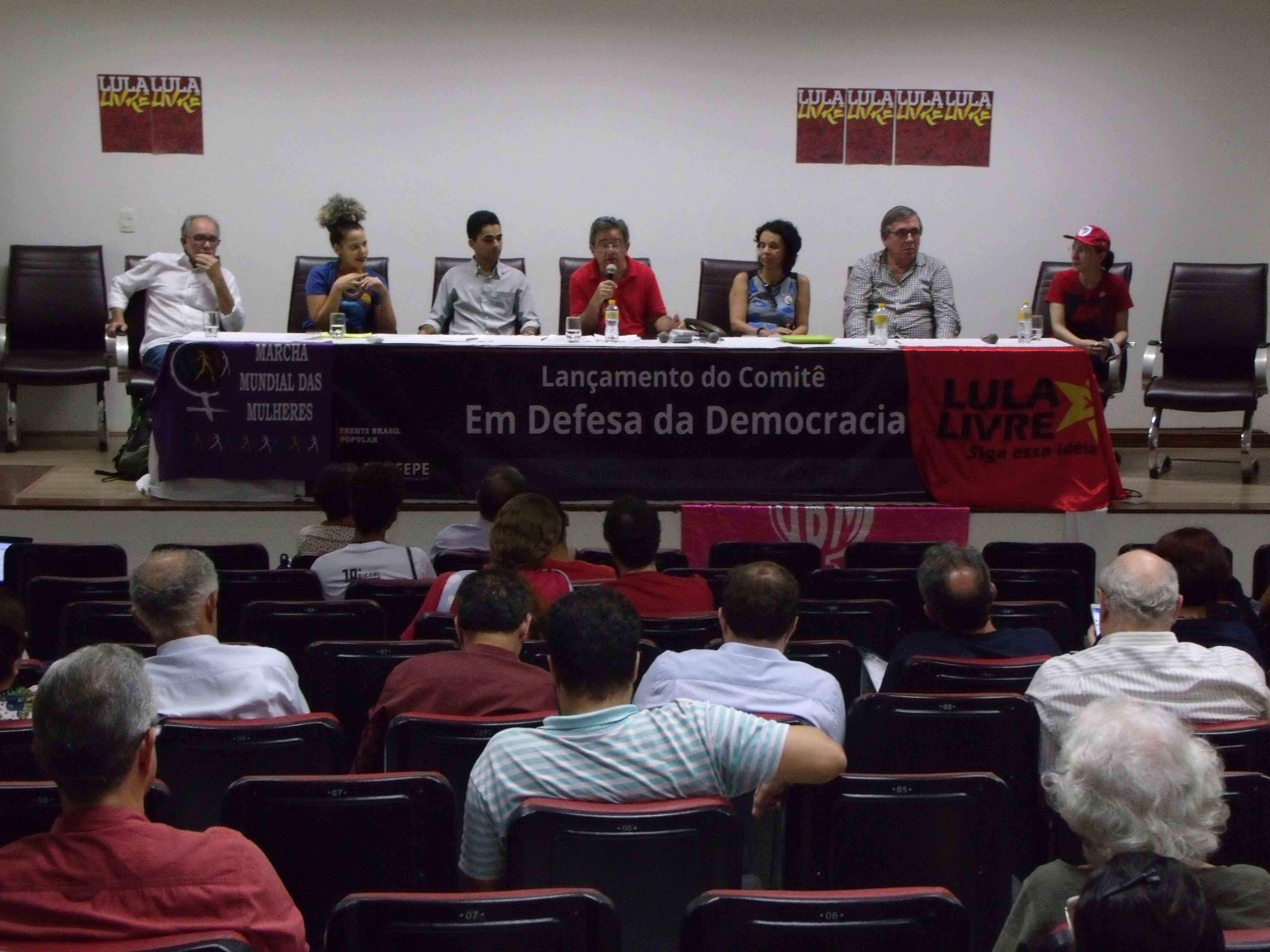 Lançamento do Comitê em Defesa da Democracia. Fotos: Ascom ADUFEPE