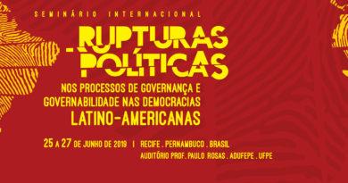 ADUFEPE sedia seminário Rupturas Políticas